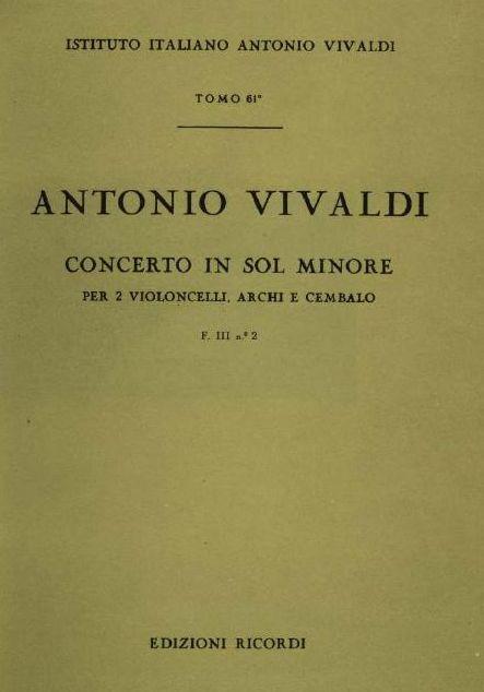 Concerto in sol minore. Т. 61
