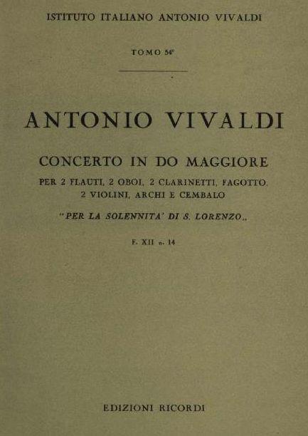 Concerto in do maggiore. Т. 54