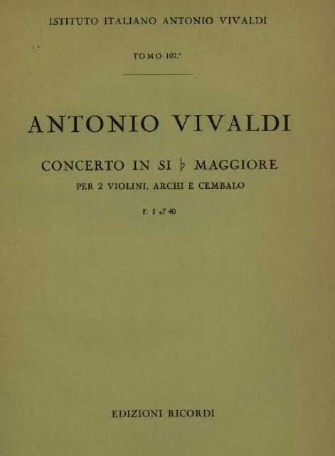 Concerto in si b maggiore. T. 107