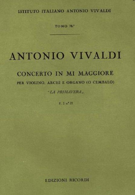 Concerto in mi maggiore. T. 76