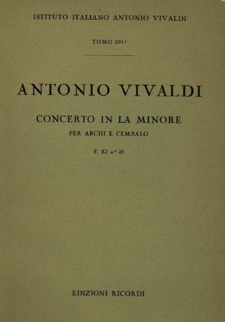 Concerto in la minore. T. 201