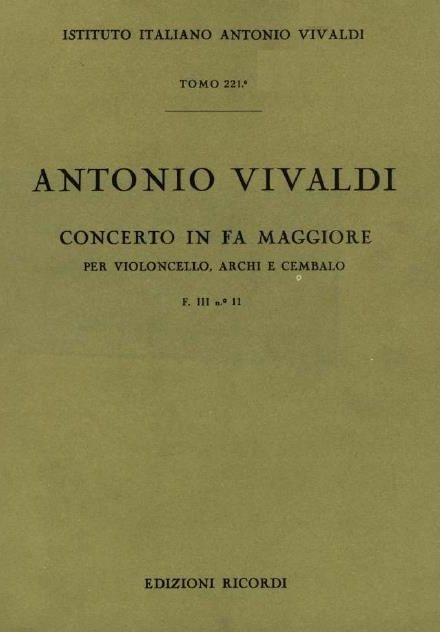 Concerto in fa maggiore. T. 221