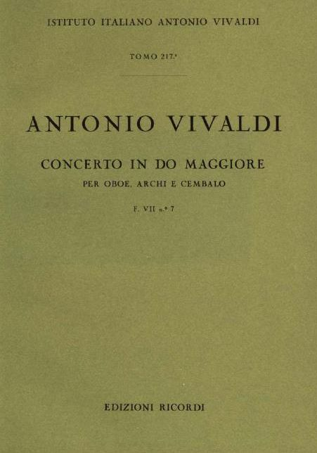 Concerto in do maggiore. T. 217
