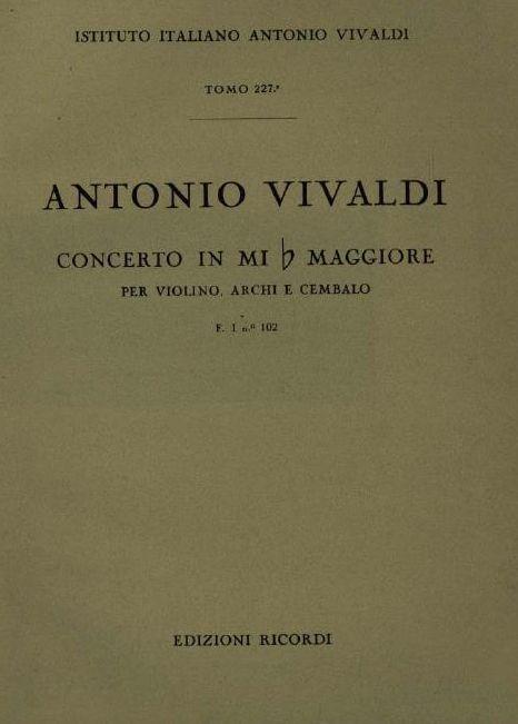 Concerto in mi b maggiore. T. 227
