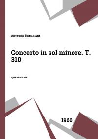 Concerto in sol minore. T. 310